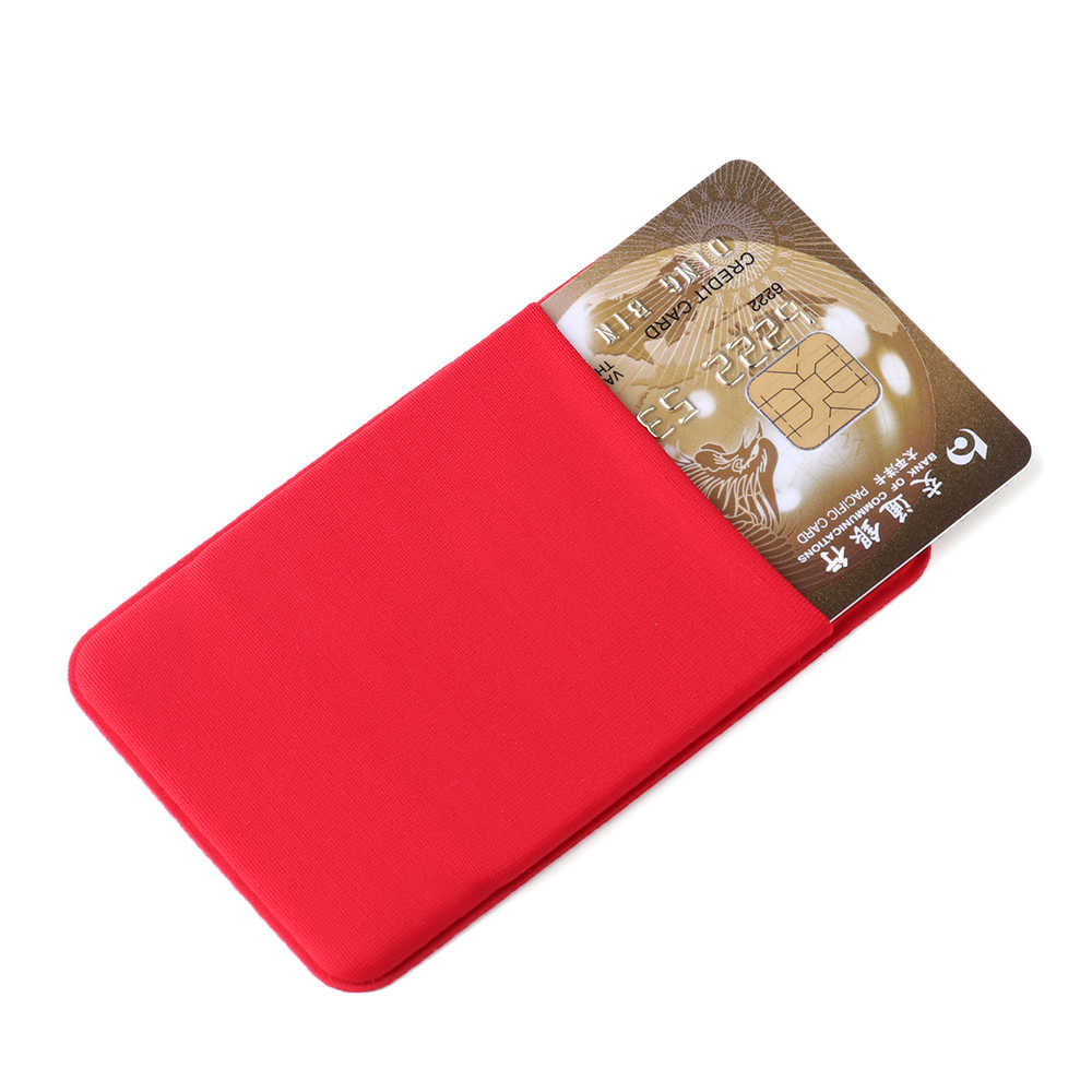 1PC Fashion Elastic Business Work Card ID Badge Vertical Phone Card Case Holders Lycra Credit Card Pocket