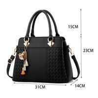 Новинка; Лидер продаж; модные высококачественные повседневные женские сумки; женские кошельки; Сумка-тоут на плечо (черный)