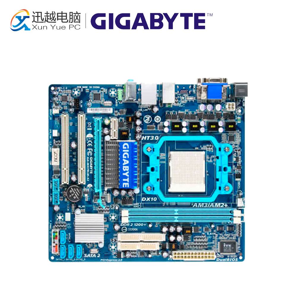 Gigabyte GA-MA78LM-S2 Desktop Motherboard MA78LM-S2 760G Socket AM2 DDR2 SATA2 USB2.0 Micro ATX for gigabyte ga ma78g ds3hp original used desktop motherboard for amd 780g socket am2 for ddr2 sata2 usb2 0 atx