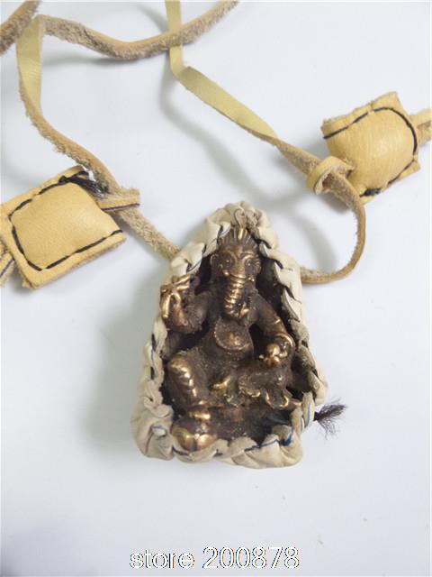 TNL532 Indio Ganesh Dios grandes amuletos, vaca Cubierta Dios Elefante Colgante collar Al Por Mayor de Tíbet Joya