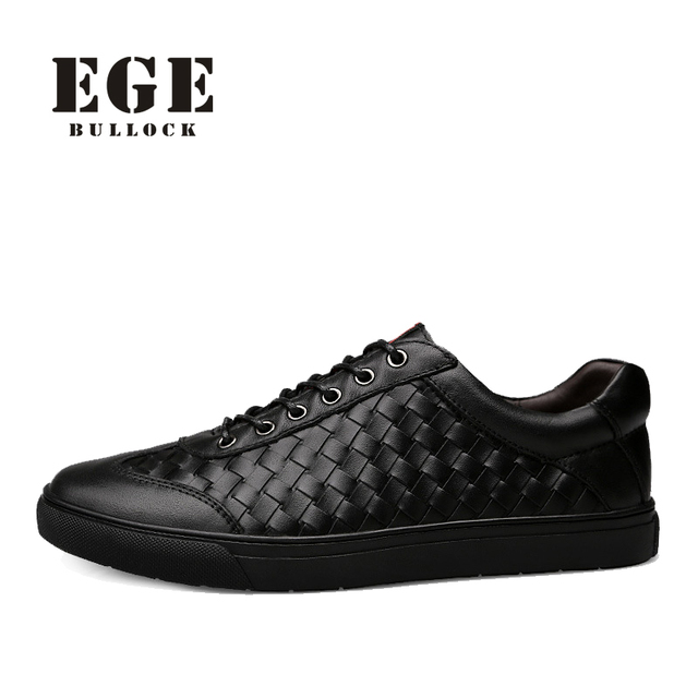 EGE Loafer Men Shoes High Quality Genuine Leather New Arrival Casual Driving Shoes Breathable Soft Male Fashion Shoes for Men