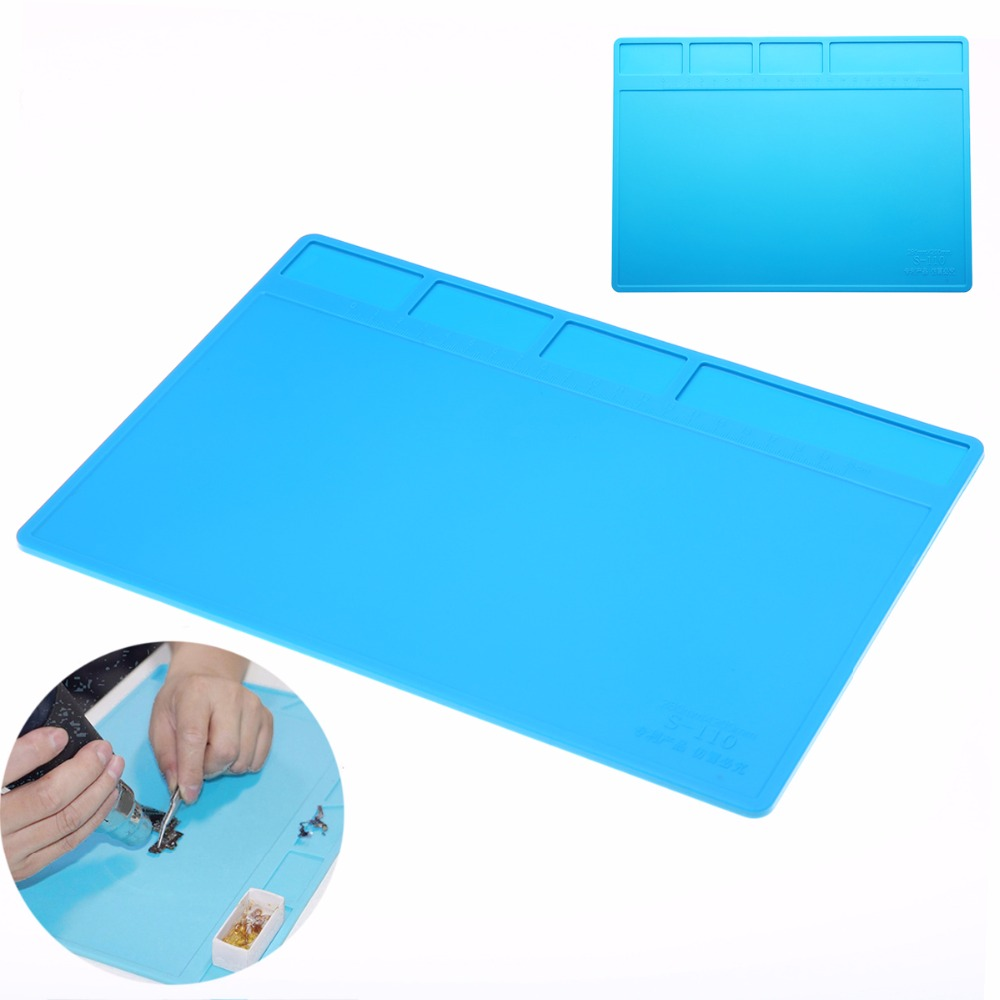 Mayitr 1pc Soldering Station Repair Insulation Pad Silicone Soldering Mat Maintenance Platform