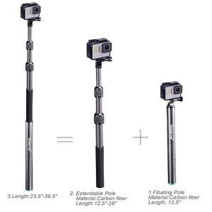 Image 4 - Smatree S3C Carbon Fiber Afneembare Uitschuifbare Drijvende Pole voor GoPro Hero 8/7/6/5/4 /GOPRO HERO 2018, voor DJI OSMO Actie Camera