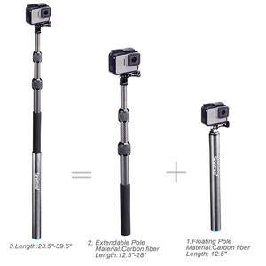 Image 4 - Smatree S3C Carbon Fiber Detachable Extendable Floating Pole for GoPro Hero 8/7/6/5/4/GOPRO HERO 2018,for DJI OSMO Action Camera