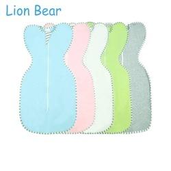 LionBear Cocoon Baby Sleeping Bag envelope for newborns 0-6 Month Cotton Solid color Zipper Sleepsacks Baby Bedding Accessories