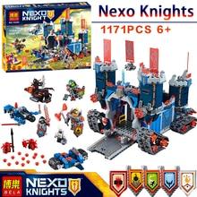 BELA Nexus Knights Fortrex Castle Model Building Block Toy Fox Axl Minifigures LEGOed bricks Compatible 70317 Educational