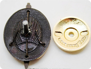 Image 5 - NKVD multilayer copper enamel shield and sword badge of the early KGB interior ministry
