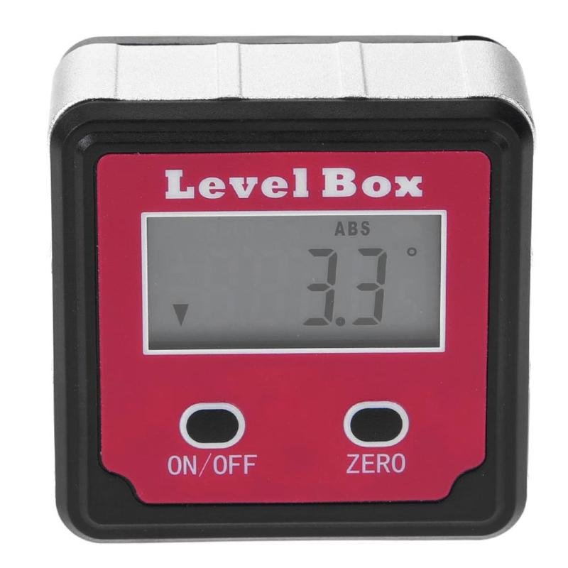 все цены на Durable Digital Inclinometer 2 Buttons Goniometer Box Level Protractor Angle Gauge Electronic Bevel Measuring Tool