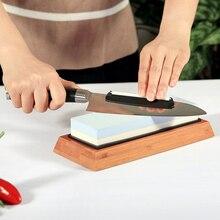 Камень для заточки ножей комплект 2 боковых набор точильных камней 1000/6000 точильный камень Honing Waterstone кухонный нож Противоскользящий камень угол