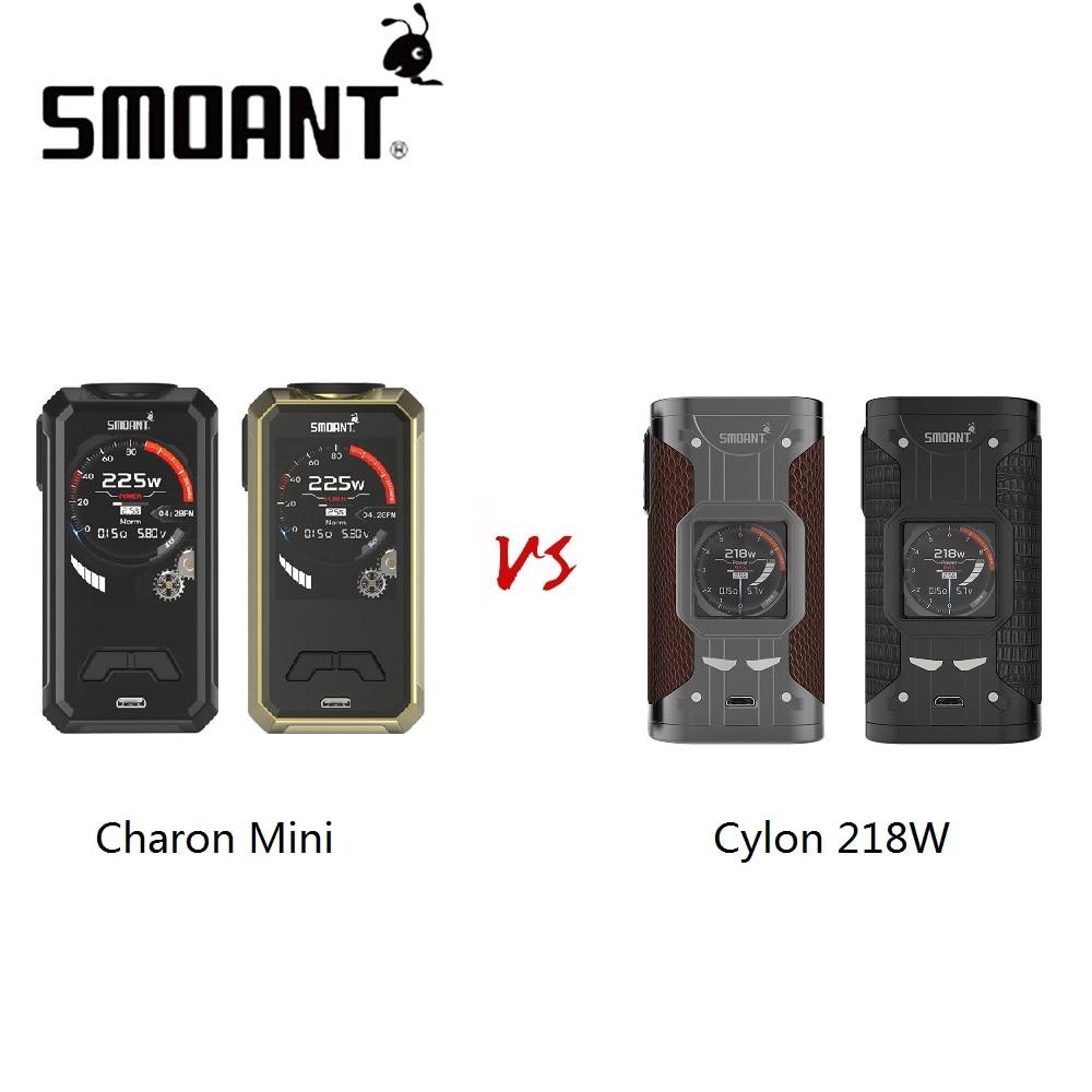 все цены на Hot Sale Smoant Cylon 218W MOD VS Smoant Charon Mini 225W MOD No 18650 Battery Box Mod High Wattage Electronic Cigarette Mod