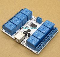 8 channel 12V dc USB Relay Module Opto couple 8 SPDT relays For PC computer Robotics