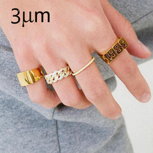 3UMeter Number  Name Ring Menring Custom Ring Zirkonia Personalized Sterling Silber Ring Rose Gold With Number Custom Gifts недорого