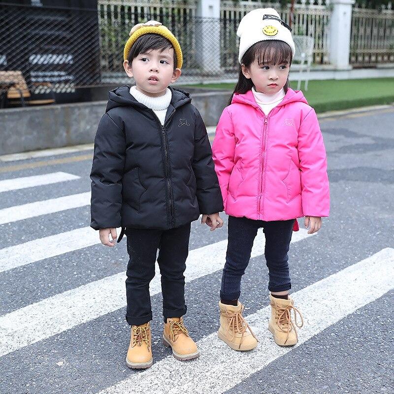 Baby Boys Girls Hooded White Duck Down Jacket Children Outerwear Boy Winter Warm Hooded Coat Children Clothes Kid Jackets XL649 стоимость