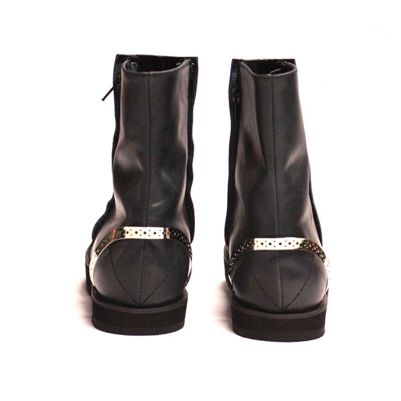 Natureza Sapatos Model1 Do De Motor Mão Homens Masculinas Top Boots Feitos Punk Calcanhar model2 Itália Metal Ankle High Botas Couro Clássico Escondido Pista Motociclista À Martin S6Ywpng