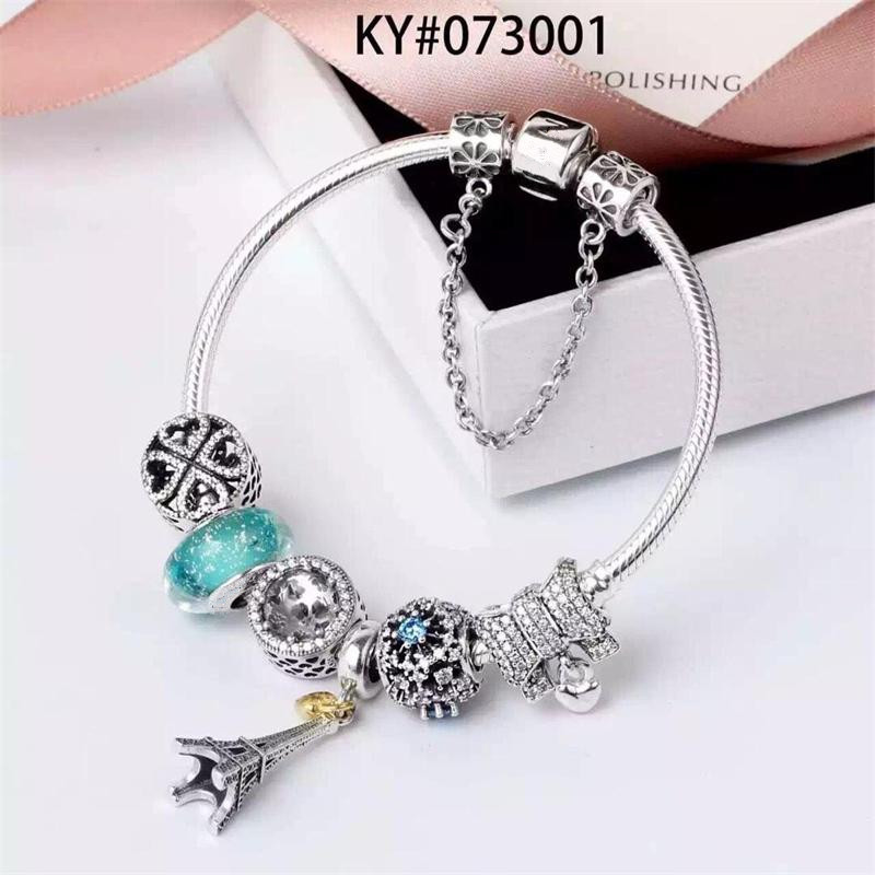 FANSER Pandors Bracelet High quality Same as The Original Picture Diy bead charm Women Beads bracelet for gifts