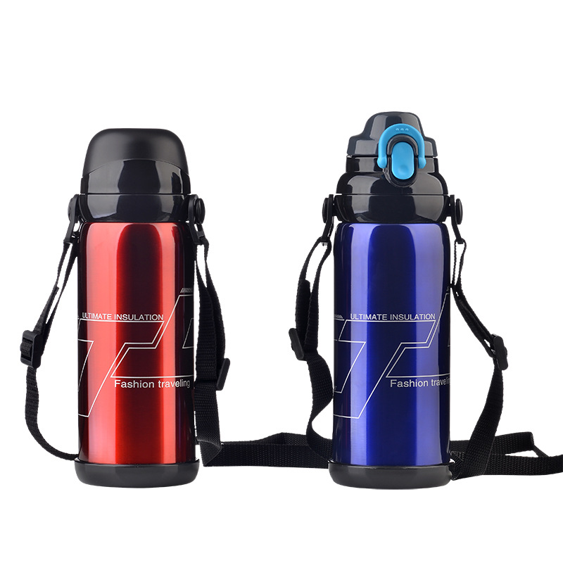 YIBO 1Pcs Stainless Steel Thermos Cup Creative Outdoor Travel High Capacity Sport Bottle Multifunction Vacuum Travel Pot