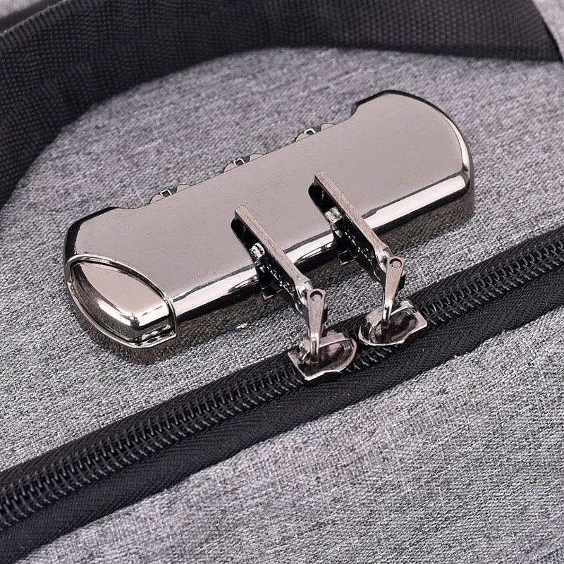 Ryee время рюкзак подзарядкой от USB гарнитура отверстие сумка для ноутбука кодовый замок anti-theft отдыха и путешествий рюкзак сумка