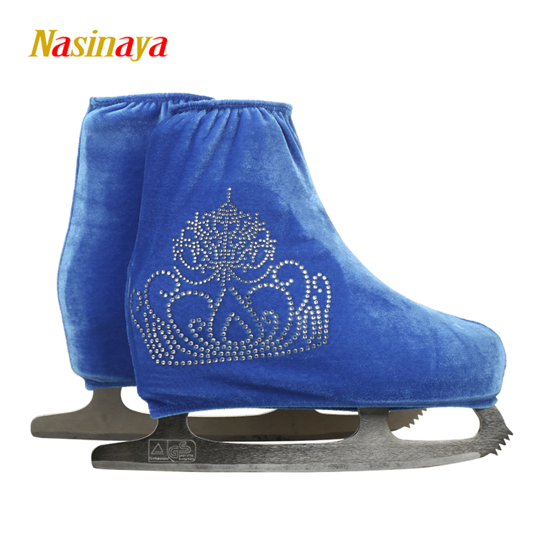Nasinaya Figure Skating Shoes Cover Velvet For Kids Adult Protective Roller  Skate Ice Skating Accessories Shiny Rhinestones 17