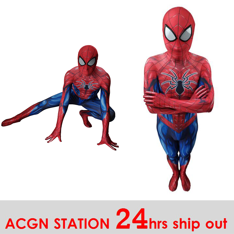 Avengers Spiderman Iron spiderman Homecoming spiderman Cosplay Costume Anime Full Bodysuit for Halloween party for kids adult