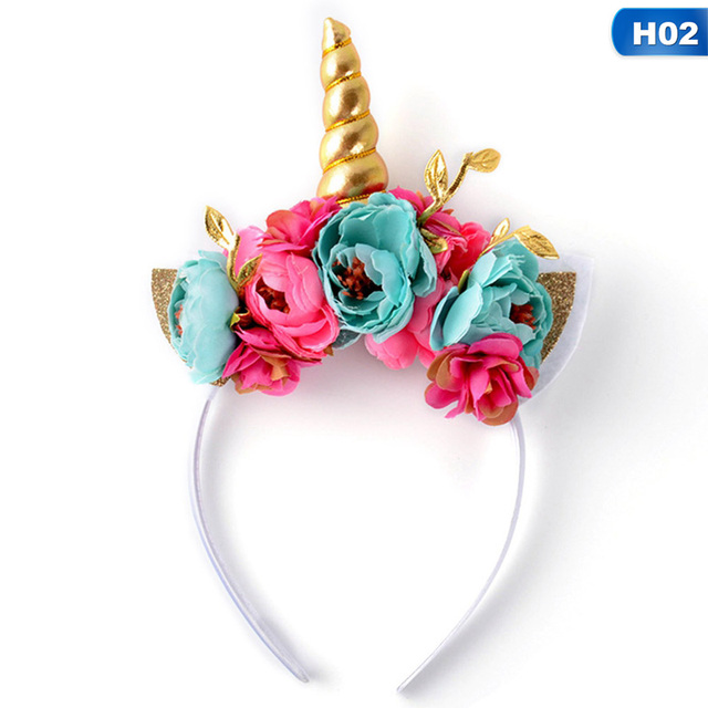 Cute Kawaii Children Rainbow Unicorn Horn Hairband Kids Chiffon Unicorn  Headband Glitter Hairband Easter Bonus Hair Accessoriess 2a73d3381f8