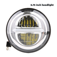 For indian scout 5.75 led headlight with daytime running light motorcycle drl headlamp for harley iron 883 headlight