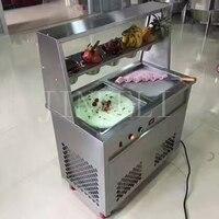 18 Бесплатная доставка для дома 25 35l/h коммерческого жареное мороженое крен машины, r22 R410 тайский Мороженое машина с Ad Дизайн световой короб