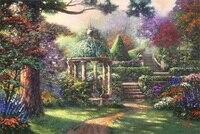 Free shipping Thomas Kinkade pastoral landscape painting reproduction prints canvas wall art