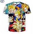 Mr.1991 Европе и Америке молодежная мода japanes аниме Dragon Ball kongfu 3D футболки мальчиков большие дети подростки майка топы A15