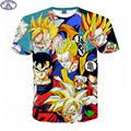 Mr.1991 Europe and America youth fashion japanes anime Dragon Ball kongfu 3D t-shirt boys  big kids teens t shirt tops A15