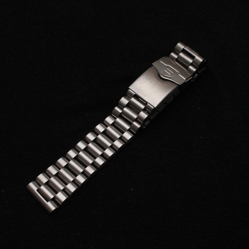 New 316L unpolished Stainless Steel Metal Watch Bands Strap bracelets safety Deployment Clasp Buckle matte watchbands 20mm 22mm watch band 22mm new mens black pure polished solid stainless steel watch bands strap bracelets free shipping