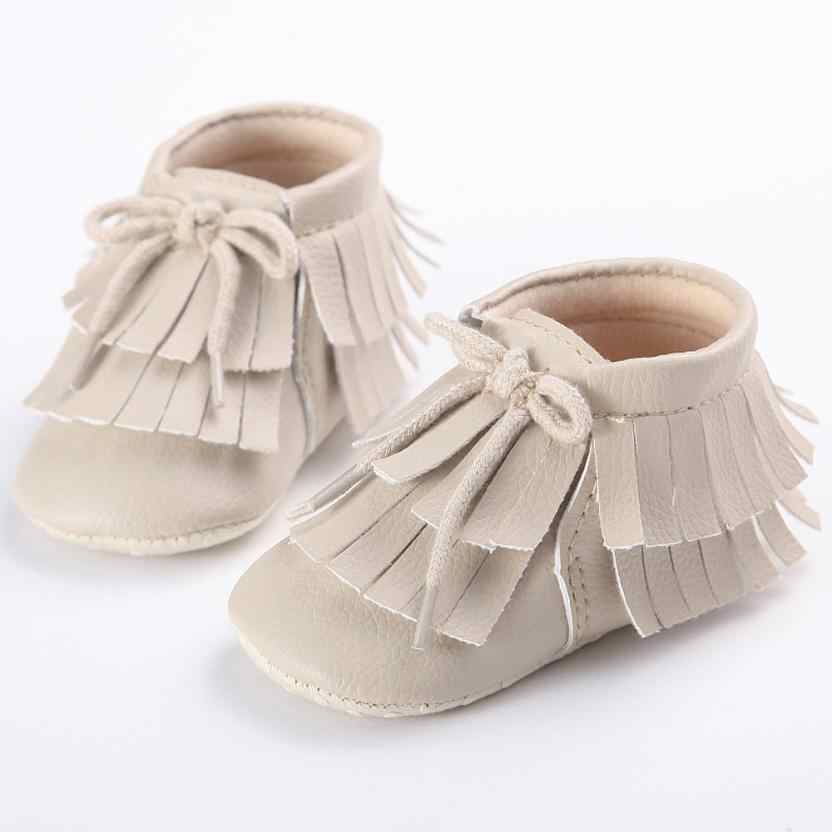 3b51610d287b ... New Shine black Leather Baby moccasins First Walkers Soft Rose gold  Baby girl shoes infant Fringe ...
