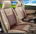 for  FIAT 500 Panda Ottimo Palio Punto Luxury pu Leather weave Ventilate Front & Rear Complete car seat covers four seasons