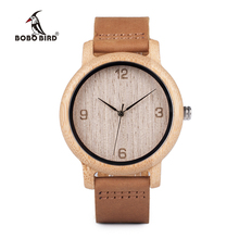 BOBO BIRD relogio masculino Antique Bamboo Watches for Men and Women With Leather Strap Wood Wristwatch Top Brand Drop Shipping