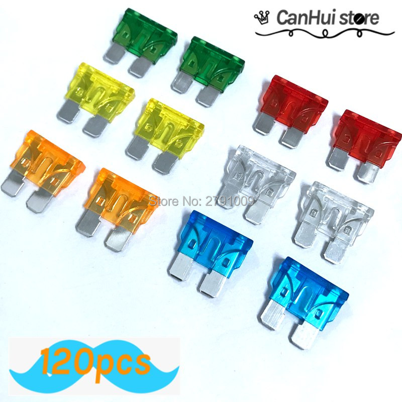 ASSORTED AUTOMOTIVE GLASS FUSES 30MM 2,5,10,15,20,25,35,50 AMP x 10 each QTY 80