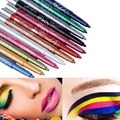 12pcs\lot Professional Eye Shadow Lip Liner Eyeliner Pencil Makeup Tool Set 12 Color Makeup Drop Shipping