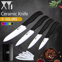 XYj Kitchen Knives Cooking Tools Set Zirconia Ceramic Knife 3 4 5 6 White Blade 5