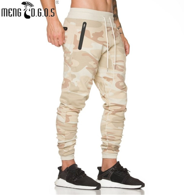 2018 autumn men's fashion fitness trousers more fear God loose men's casual pants overalls camouflage pants fitness pants