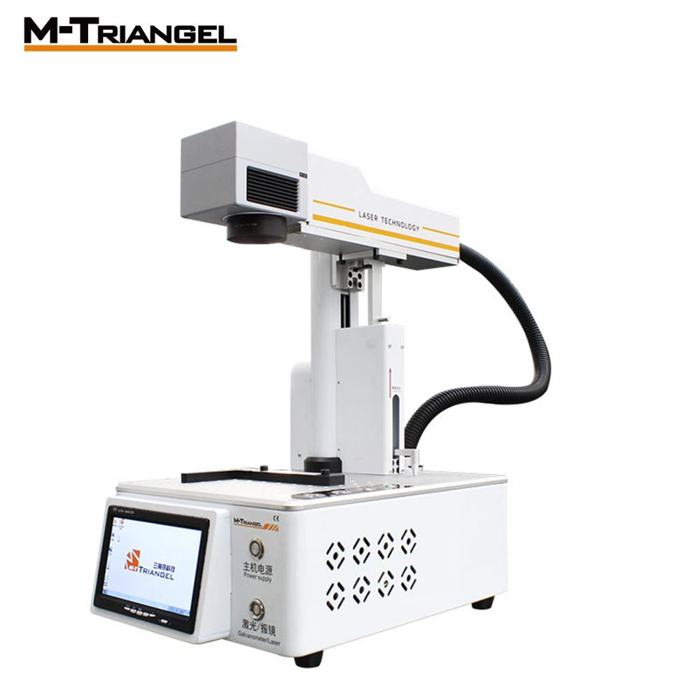 Máquina grabadora láser de fibra M-Triangel 20W separador LCD DIY para corte de madera de Metal de cuero CNC compacto impresora grabador