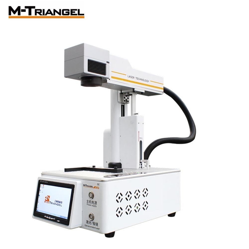 M-Triangel 20W Macchina FAI DA TE Separatore A CRISTALLI LIQUIDI per Cuoio Incisore Laser In Fibra di Vetro Del Metallo di Taglio del Legno Compatto CNC stampante Incisore