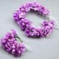 Envío Libre Flores chica Guirnalda Hecha A Mano de la novia de la corona de flores con la muñeca de la boda del pelo accesorio 160E