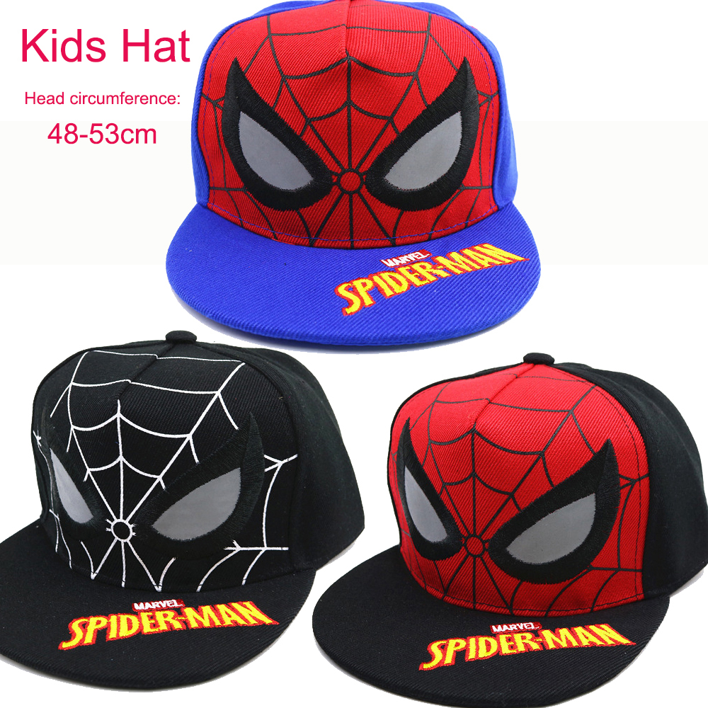 Toddler Kids Boys Girls Venom Spider-man Cosplay Costume Baseball Cap Adjustable Snapback Hip-hop Outdoor Sun Hat