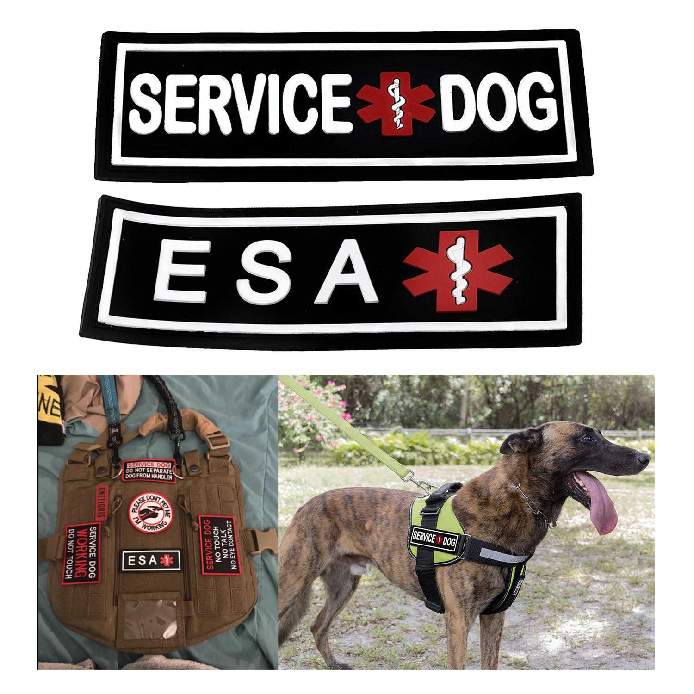 pvc Service Dog PATCH Pet ESA MED Medic