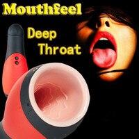 Nouveau! Gorge profonde Tasse de Sexe Sex Toys Pour Hommes Mâle Masturbateur Vibration Jouets Adultes de Sexe Vagin Sex Machine