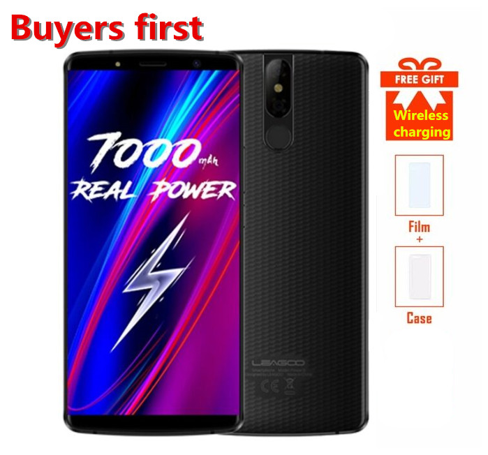 2018 LEAGOO PUISSANCE 5 18:9 5.99 FHD RAM 6 gb ROM 64 gb 13MP smartphone 7000 mah Android 8.1 MT6763V Octa Core 4g LTE Mobile Téléphone