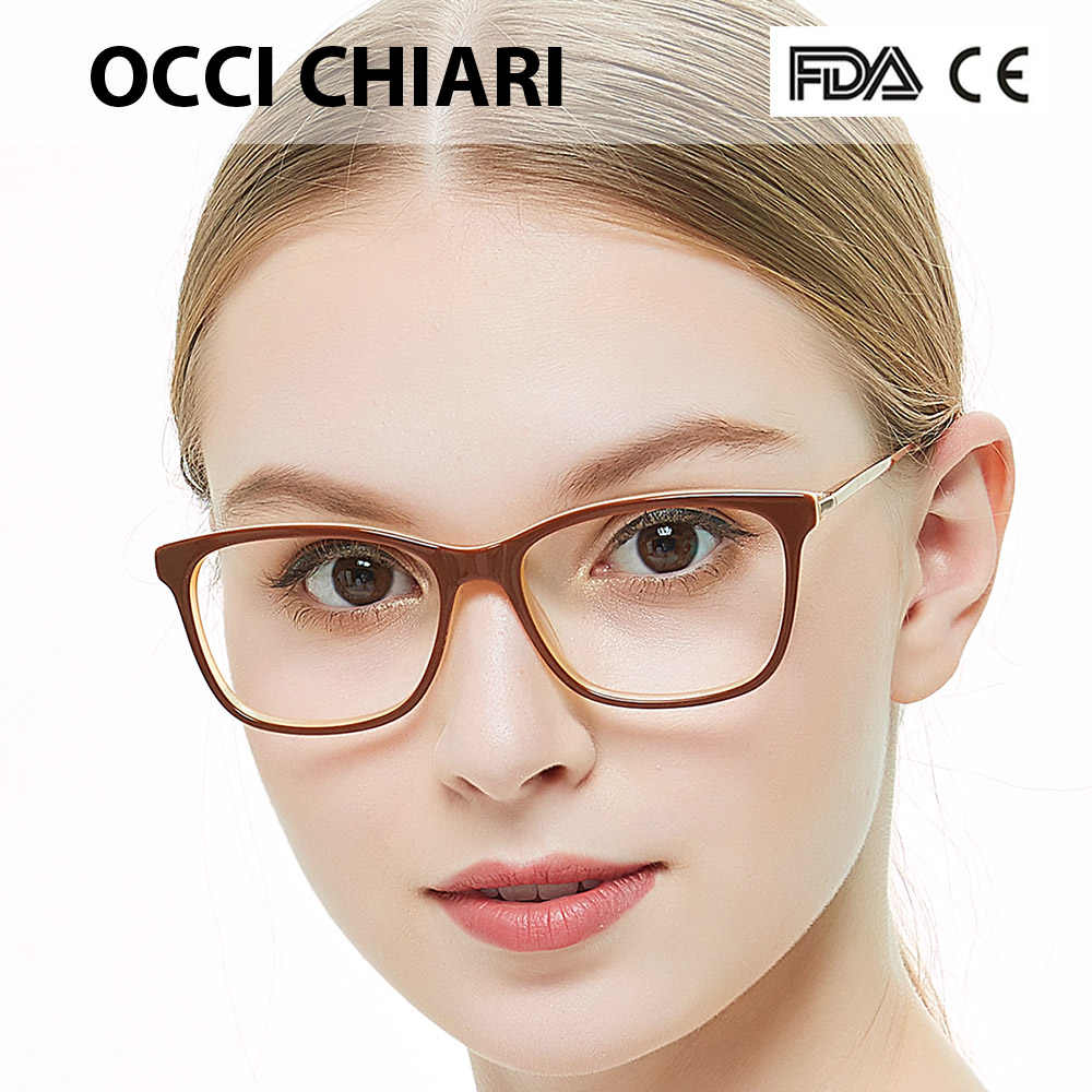 8b40042588c OCCI CHIARI Glasses Clear Optical Women Glasses Frame Clear Lens Eyeglasses  Spectacles Designer Trendy Acetate Red