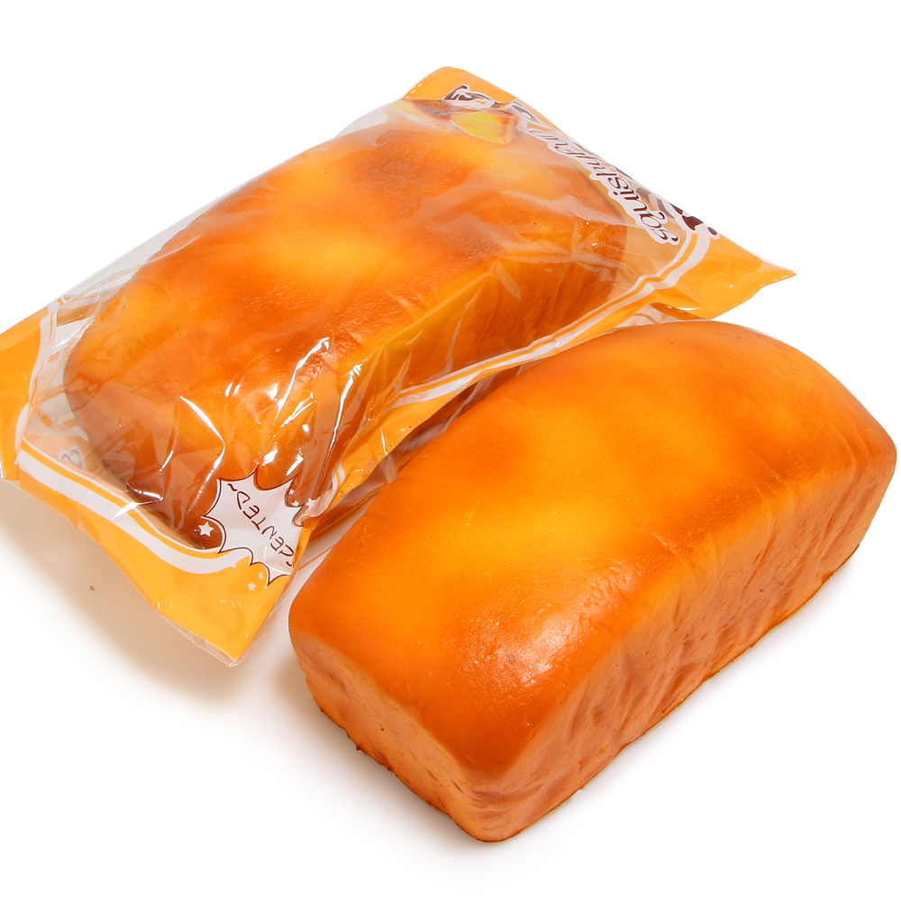 1PCS 7 8 quot Jumbo Toast Loaf Squishy Super Slow Rising Bakery Scented Kid Toy Gift Squeeze Toy Original Package in Kitchen Toys from Toys amp Hobbies