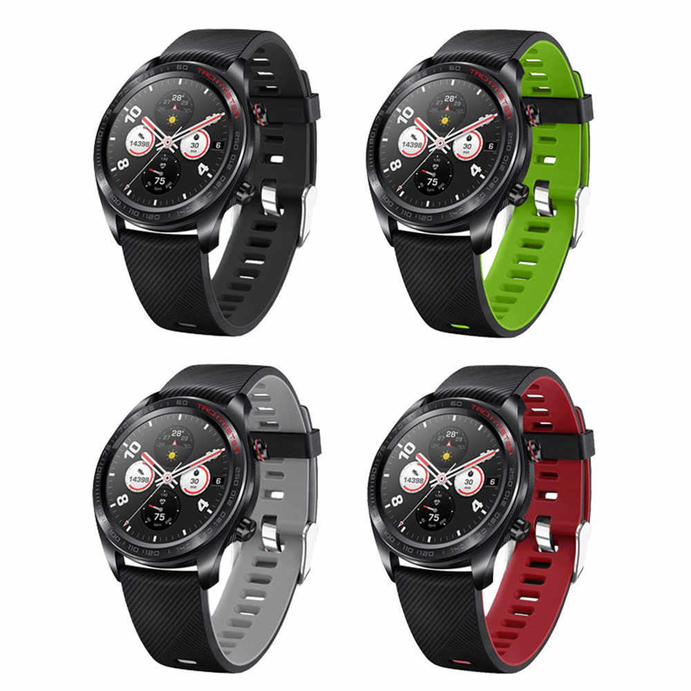 Correa de silicona Original para Huawei Watch GT Band Correa deportiva para Huawei Honor watch Magic/Ticwatch pro pulseras bandas M7