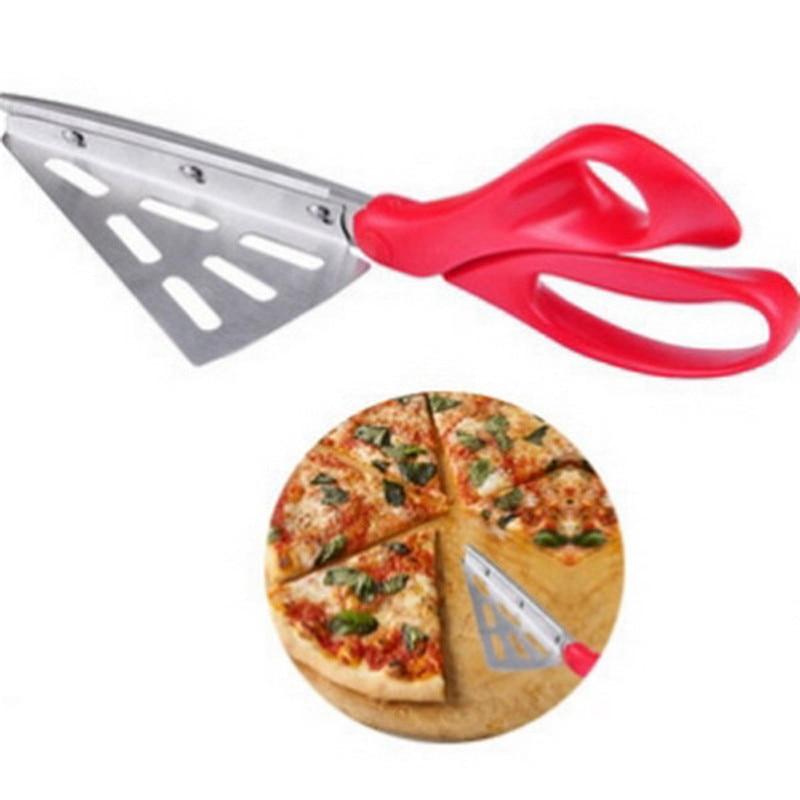 1PC Practical Detachable Pizza Scissors Stainless Steel Pizza Shovel Scissors Type Pizza...