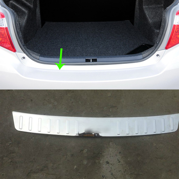 Car Accessories Interior Stainless Rear Outer Bumper Protector Scuff Plate Guard Cover Trim For Toyota Vios/Yaris Sedan 2014