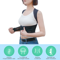 1Pcs Child Student Posture Corrector Magnetic Back Support Belt Black Tourmaline Lumbar Belt Brace For Adult